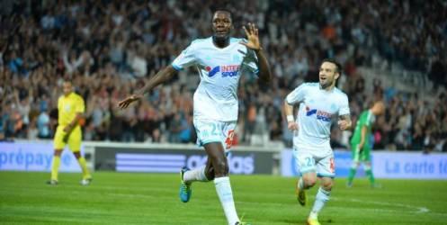 La joie du jeune Marseillais, après son premier but de la saison.